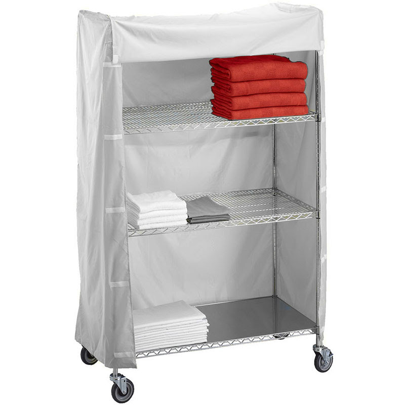 Rb Wire 244872c Metal Frame Linen Cart Nylon Cover 24 X 48 X