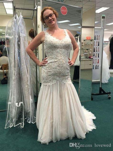 2017 Beaded Venice Lace Trumpet Wedding Dresses Romantic