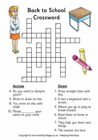 Back to School Word Search - Easy