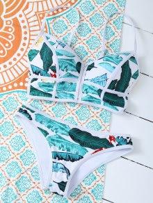 Zippered Tropical Bikini - Floral