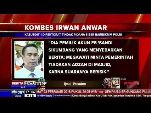 Guru Penyebar Hoax Megawati Larang Adzan, Akhirnya Ditangkap Polisi