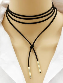 Bar Layered Wrap Necklace