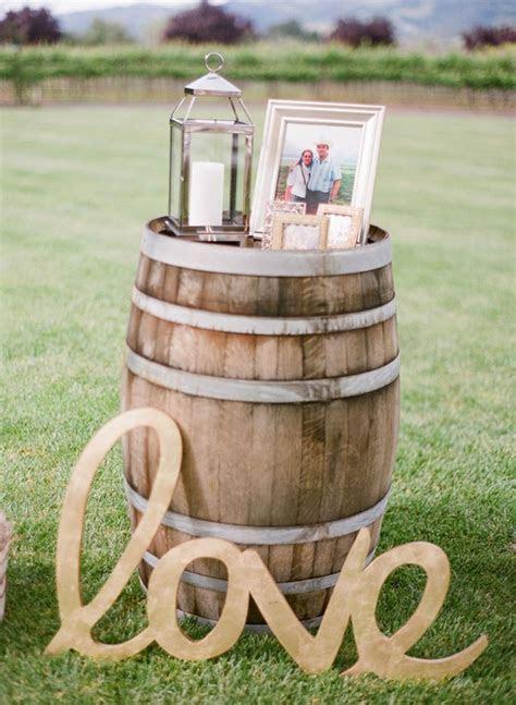 Wine Barrels Wedding Decorations