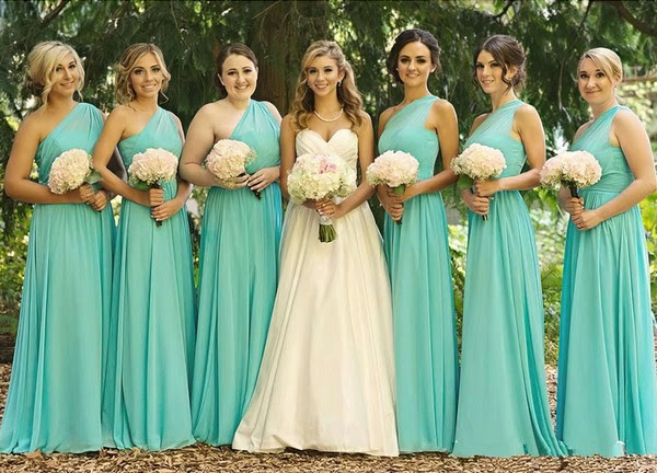 Chiffon A-line One Shoulder Floor-length Ruched Bridesmaid Dresses #JCD01012568