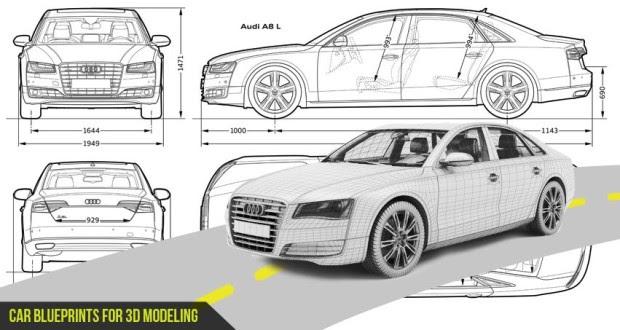 Most Loved Car Blueprints for 3D Modeling » Design You Trust
