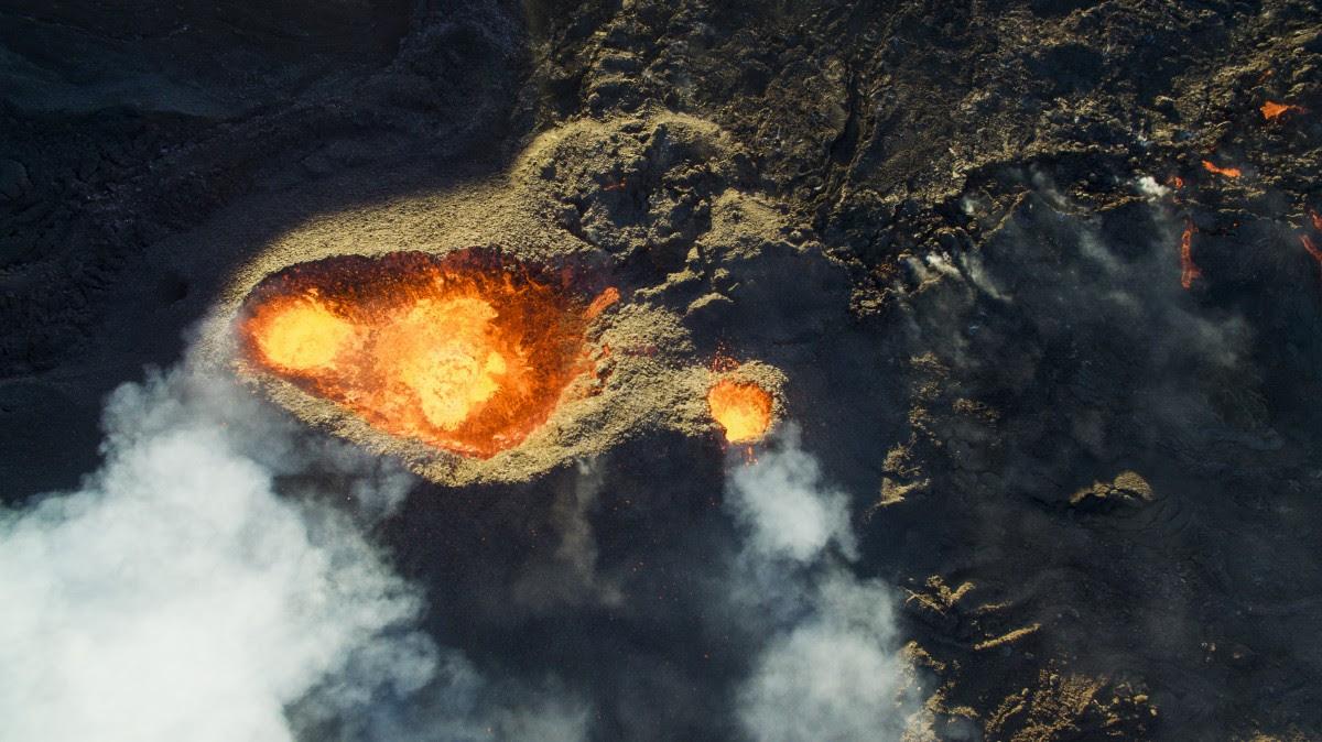 Piton de la fournaise volcano by DroneCopters