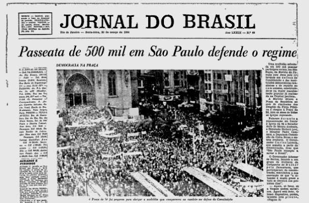 Figura 2 - Marcha da Família com Deus pela Liberdade em São Paulo (Fonte: Info Escola)