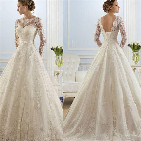 2016 hot sale beautiful lace Wedding Dresses cheap a line