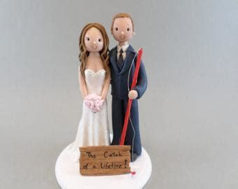 Wedding Cake Topper Personalized Bride & Groom with a by