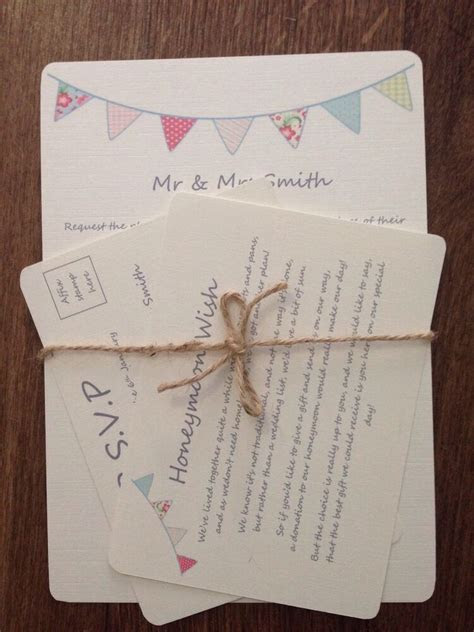 PERSONALISED WEDDING DAY/ EVENING INVITATIONS Rsvp Card