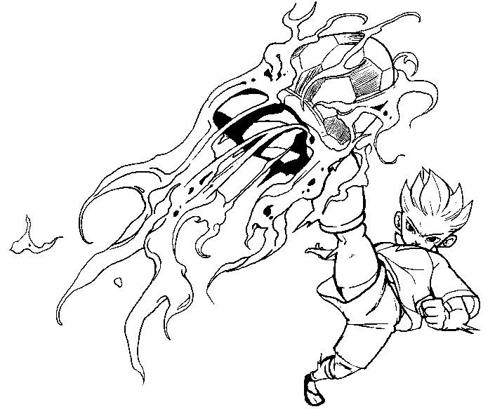 Coloring Pages Inazuma Eleven Morning Kids