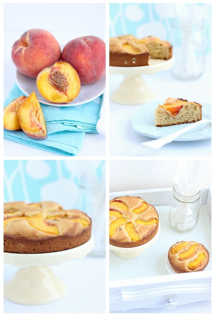 peach cake quartet