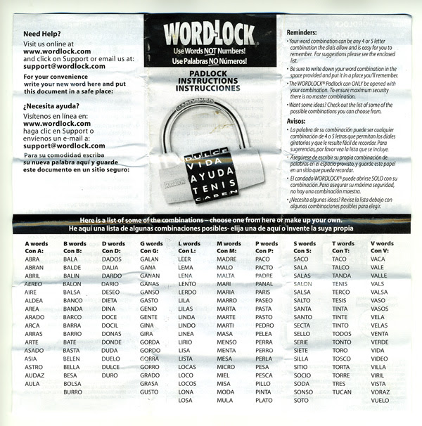 Wordlock Review Notcot