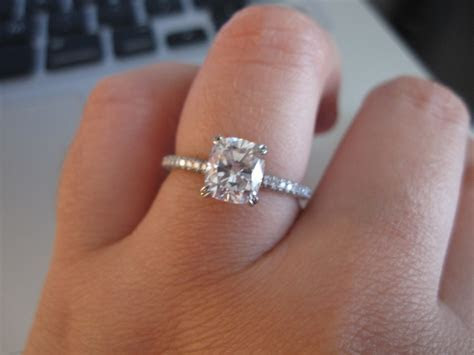 Leon Mege Cushion Cut engagement ring.   Bling