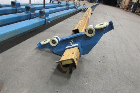 gorbel  ton ceiling mounted bridge crane  span   run wpush trolley bullseye