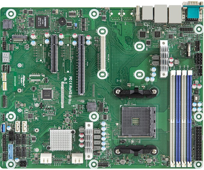 ASRock Rack B550D4M server board is designed for AMD Ryzen 5000 desktop chips
