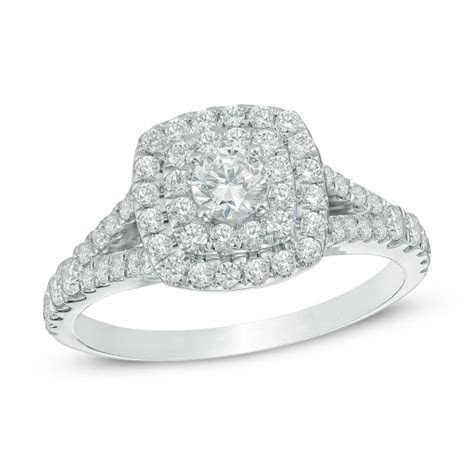 3/4 CT. T.W. Diamond Double Square Frame Bridal Set in 10K