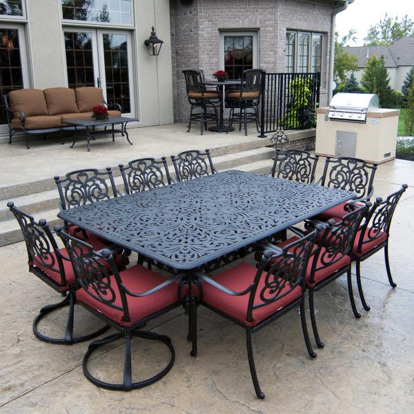 Cast Aluminum: Octagon Patio Table Cast Aluminum
