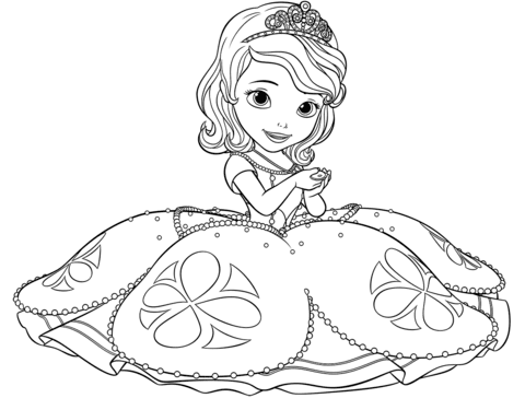 Dibujo De Princesita Sofia Para Colorear Dibujos Para Colorear