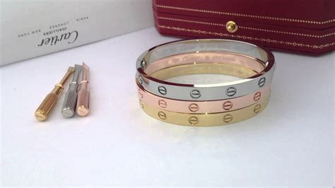 Cartier Love Bracelet in Yellow Gold, White Gold & Rose