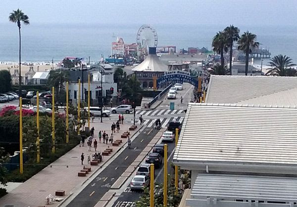 Taking a photo of Santa Monica Pier, located just a few blocks down the street, after meeting Ashley Tisdale at the Bloomingdale's department store on September 10, 2016.