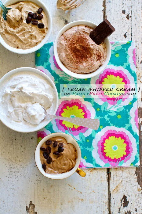 Coconut Vegan Whipped Cream Recipe on Family Fresh Cooking