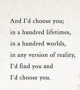 I Choose You In A Hundred Lifetimes Lyrics