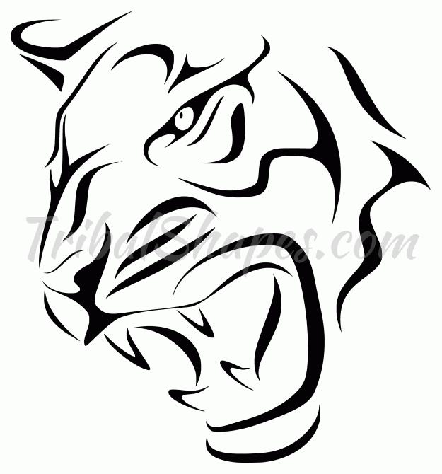 Tigre 3 Diseño Tribal