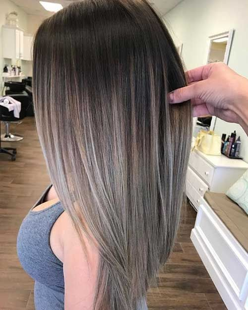 Haare ansatz dunkle grauer Graue Haare