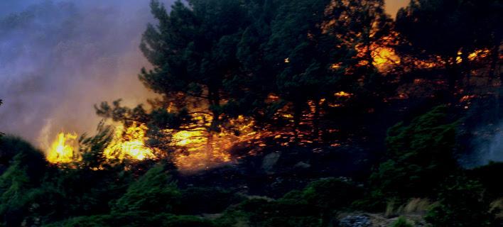 Μεγάλη πυρκαγιά στη βόρεια Εύβοια -Eκκενώθηκαν ξενοδοχείο και μοναστήρι