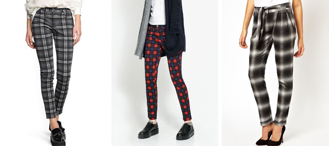 tartan plaid check trousers mango zara trf asos fall winter 2013 2014 inspiration wish list wanted turn it inside out fashion blogger belgium