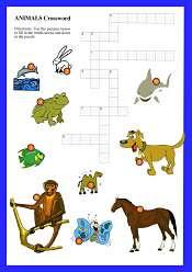 Animals Crossword