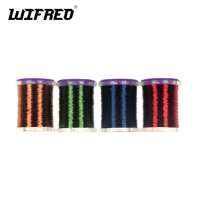 SPECIAL OFFERS Wifreo 0.1mm Super Fine Spooled Fly Tying Copper Wire Round Metal Thread For Larve Nymph Midge Streamer Flies SPECIAL Best Price H2 HOT BUY LIMITED