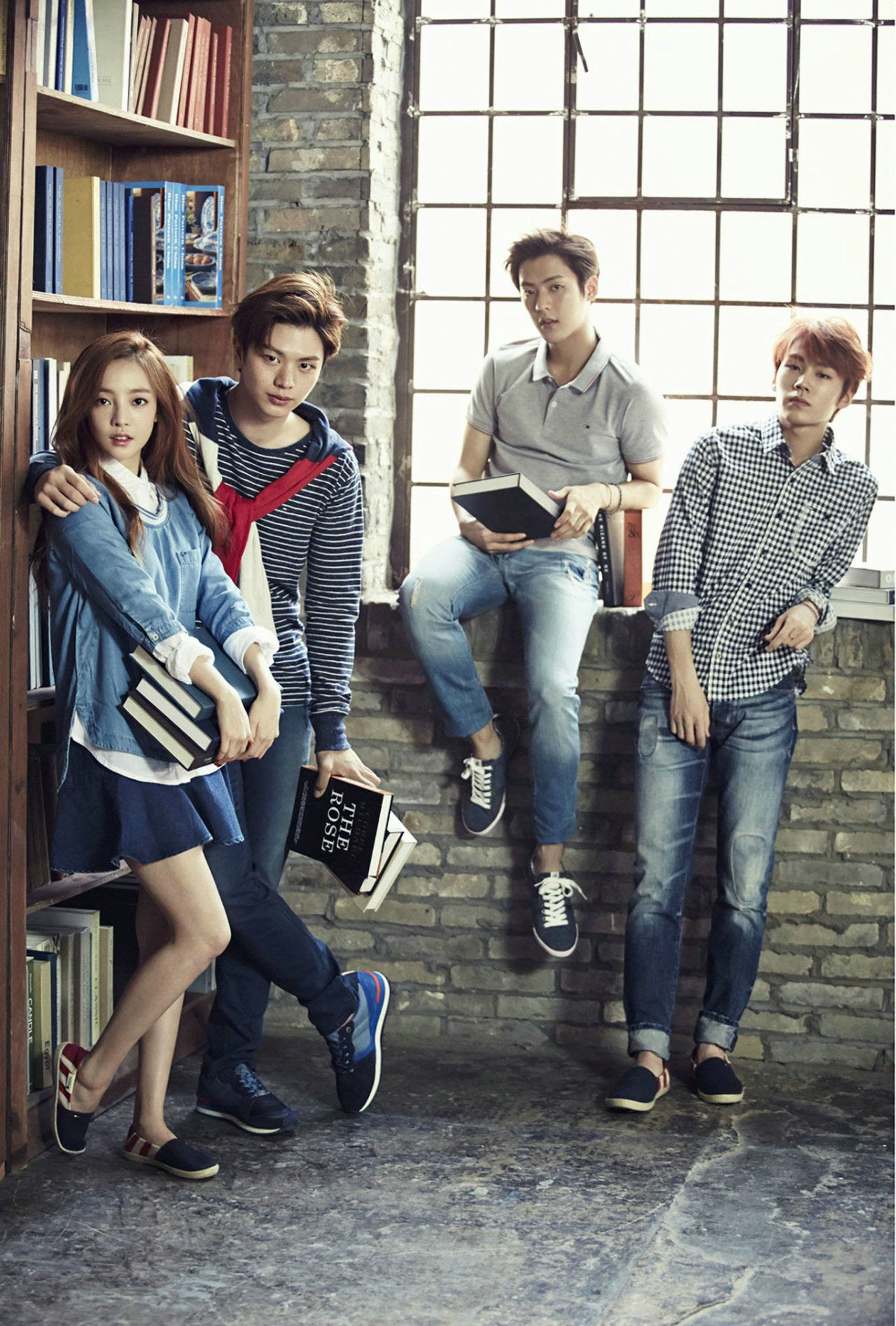 KARA Goo Hara and BTOB Sung Jae, Min Hyuk, Il Hoon - High Cut Magazine Vol.146