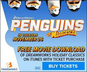One Momma Saving Money: Fandango: Purchase tickets to Penguins of