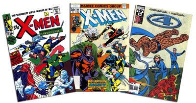 Uncanny X-Men #1 & 104, Marvel Knights 4 #24