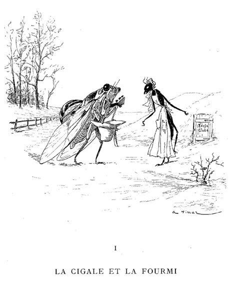 illustration de la cigale  la fourmi