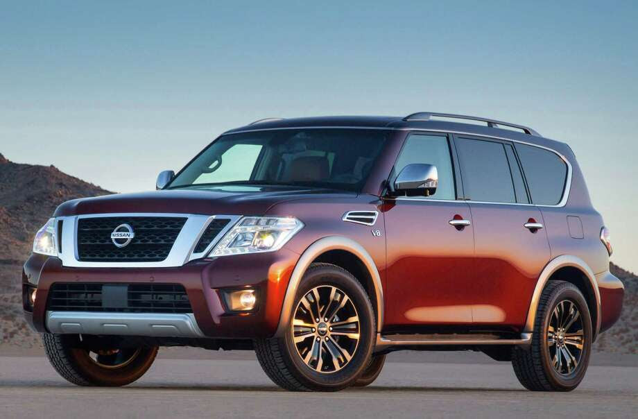Nissan's all-new second-generation Armada full-size SUV starts at $44,900 (plus $995 freight), and ranges to $60,490 for the top model, the Platinum four-wheel drive, shown here in the Forged Copper color. The big three-row SUV is now available at Nissan dealers nationwide. Photo: Nissan North America, Photographer / © 2016 Nissan