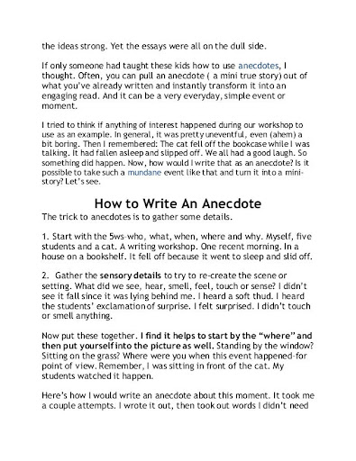 How to write an anecdote about yourself best personal essay ghostwriters for hire gb