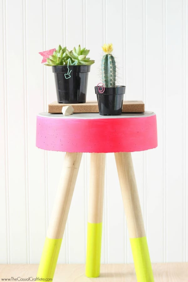 DIY Concrete Stool and Plant Stand