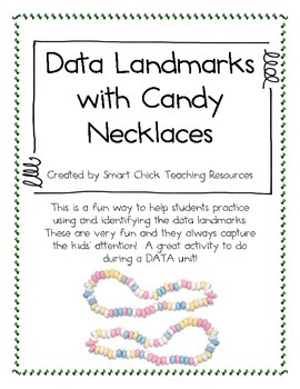 Data Landmarks with Candy Necklaces ~ FREEBIE!