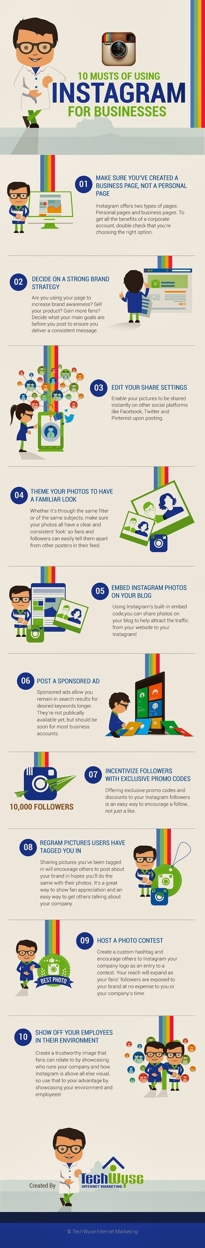 How To Use #Instagram For Businesses #infographic - #socialmedia
