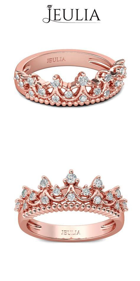 Rose Gold Tiara White Sapphire Rhodium Plated Sterling
