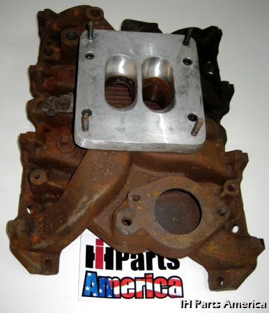 Used Intake Manifold Modified For 4bbl Carb Adapter For Ih