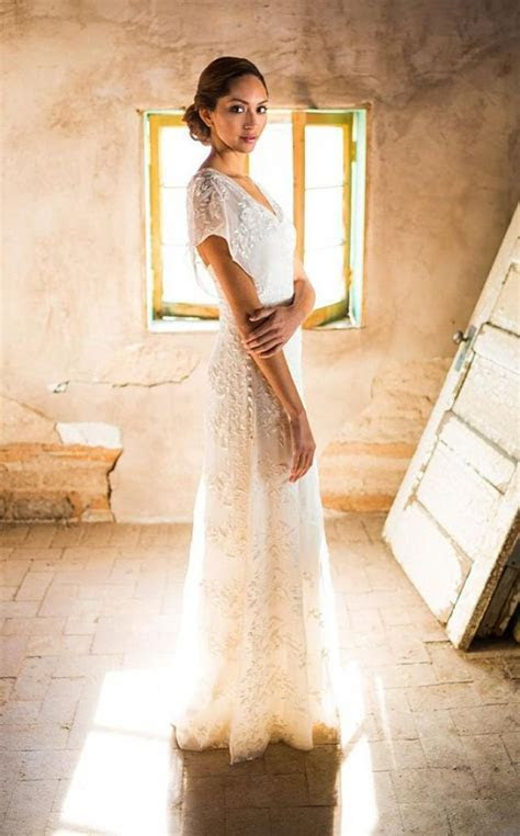 Simple Wedding Dress, Backyard Wedding Dress, Rustic