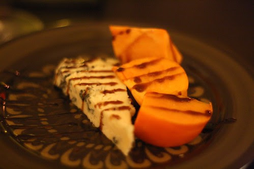 Gorgonzola with Persimmons and Aged Balsamic