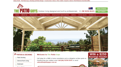 Welcome To Perthpatioguys Com Au Patios Perth The Patio Guys Decking And Patio Design Construction Dome