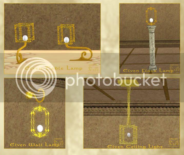 Elven Set. Part II: Buy Mode. D&M Creations - Demonic. Sims 3.