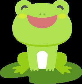 笑顔のカエルの無料ベクターイラスト素材 Picaboo ピカブー