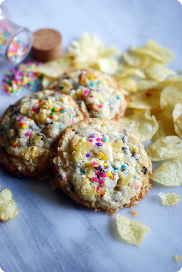 goobed-up potato chip cookies ::: bake at 350 blog